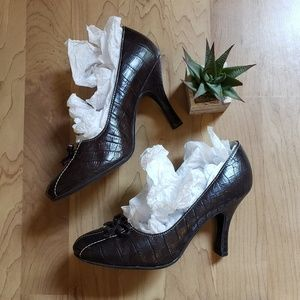 Maurice's Heels with Laces & Bows